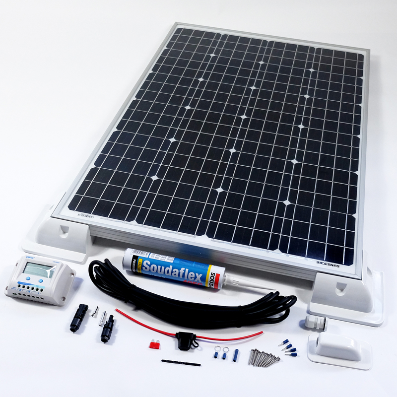 100w 12v Solar Battery Charger Vehicle Kit Deluxe Easy To