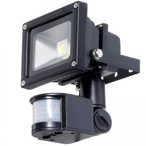 10w 12v LED Flood Light With PIR Motion Detector