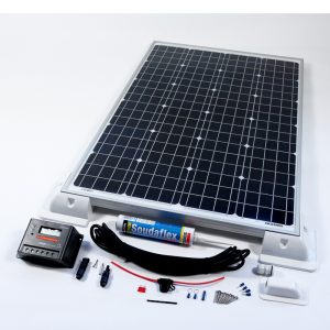 140w 12v Solar Battery Charger Vehicle Kit Deluxe