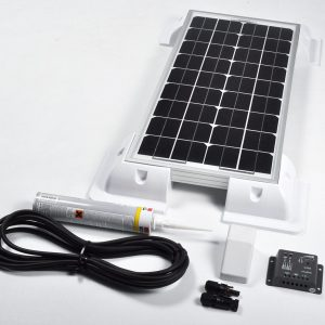 20w 12v Solar Battery Charger Vehicle Kit Deluxe