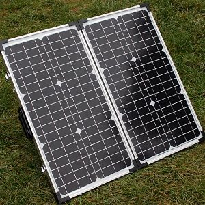 12v Solar Battery Charger - 80w Briefcase