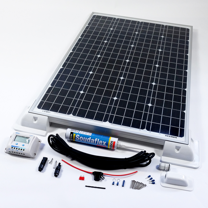 80w 12v Solar Battery Charger Vehicle Kit Deluxe