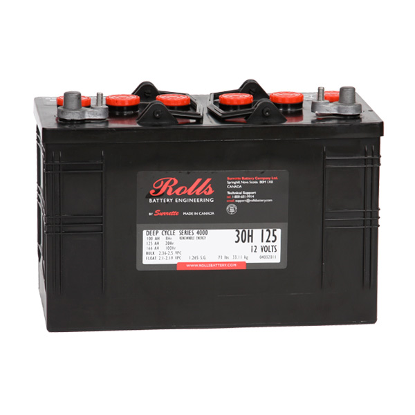 Rolls 4000 Series 125Ah Deep Cycle 12V Solar Battery 30H125