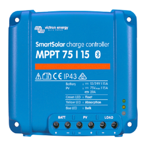 victron Smartsolar charge controller MPPT 75-15 top