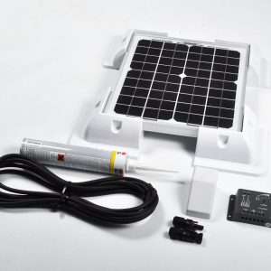 10w 12v Solar Battery Charger Vehicle Kit Deluxe
