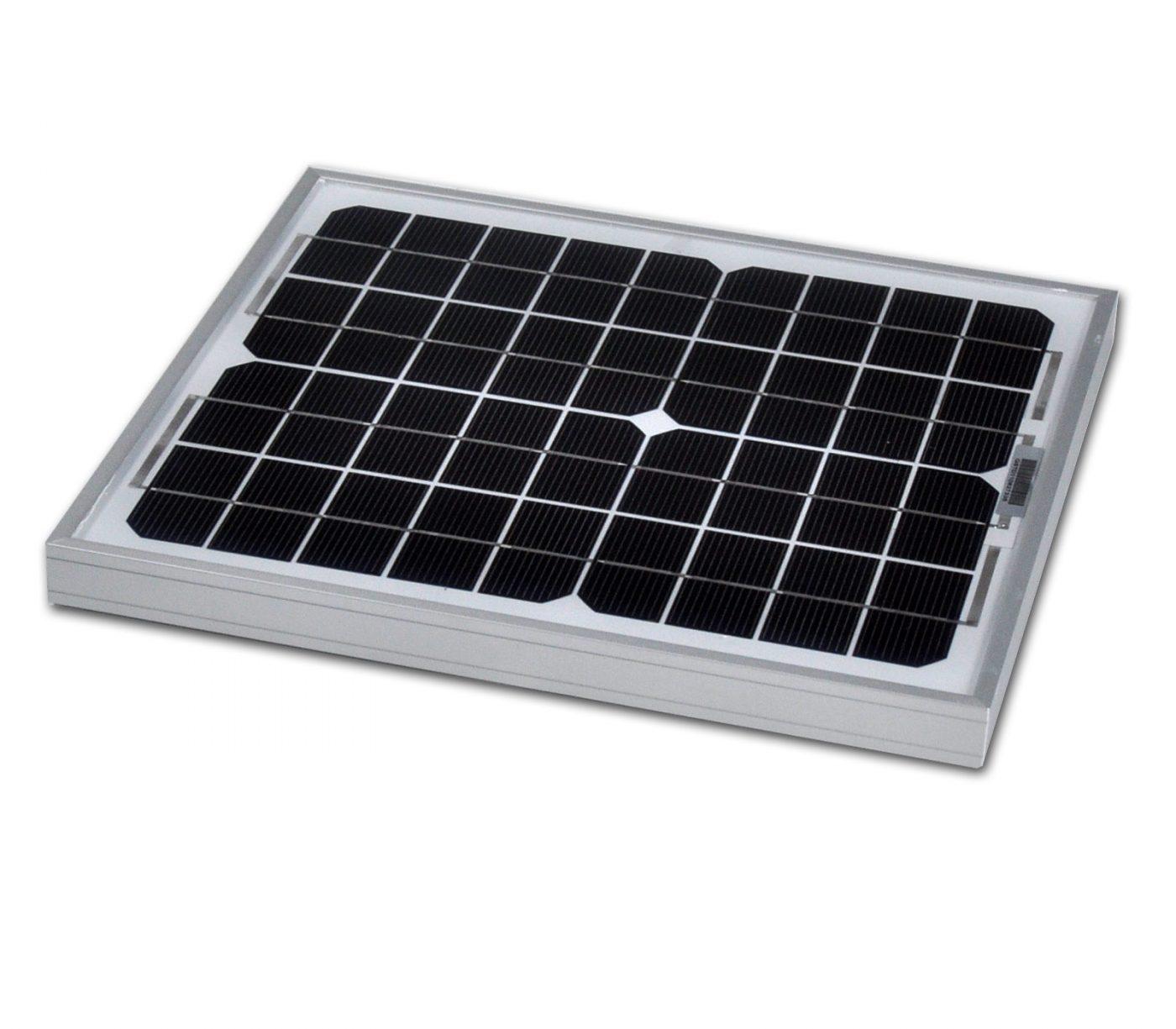 12v 10w Solar Panel Monocrystalline 355x252 5yr Component Warranty