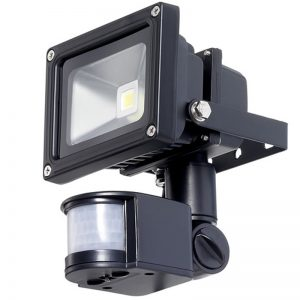 10w 12v LED Flood Light With PIR Motion Detector