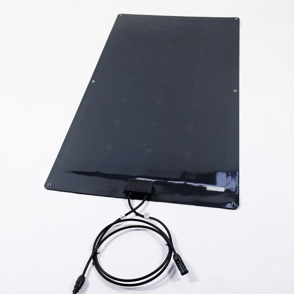 12v 110w Monocrystalline All Black Semi Flexible Panel 560x1240