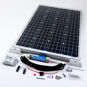 120w 12v Solar Battery Charger Vehicle Kit Deluxe