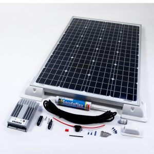 120w 12v MPPT Solar Battery Charger Vehicle Kit