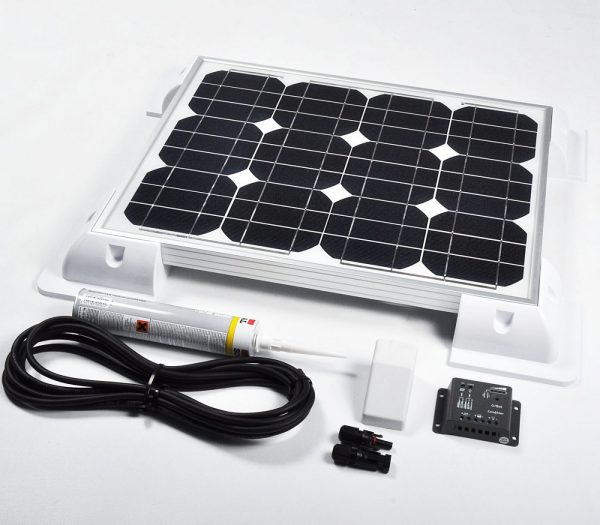 30w 12v Solar Battery Charger Vehicle Kit Deluxe