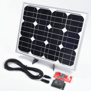 30w 12v solar battery charger