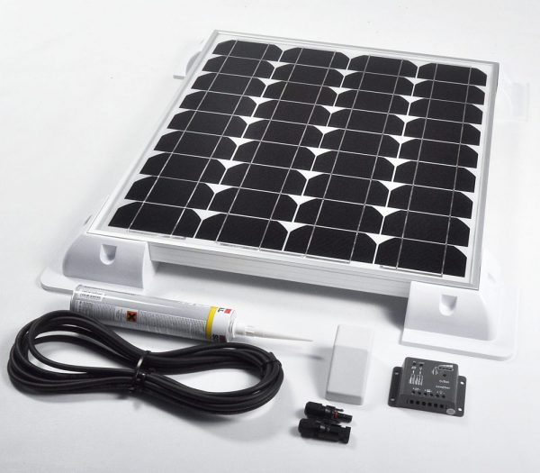 45w 12v Solar Battery Charger Vehicle Kit Deluxe