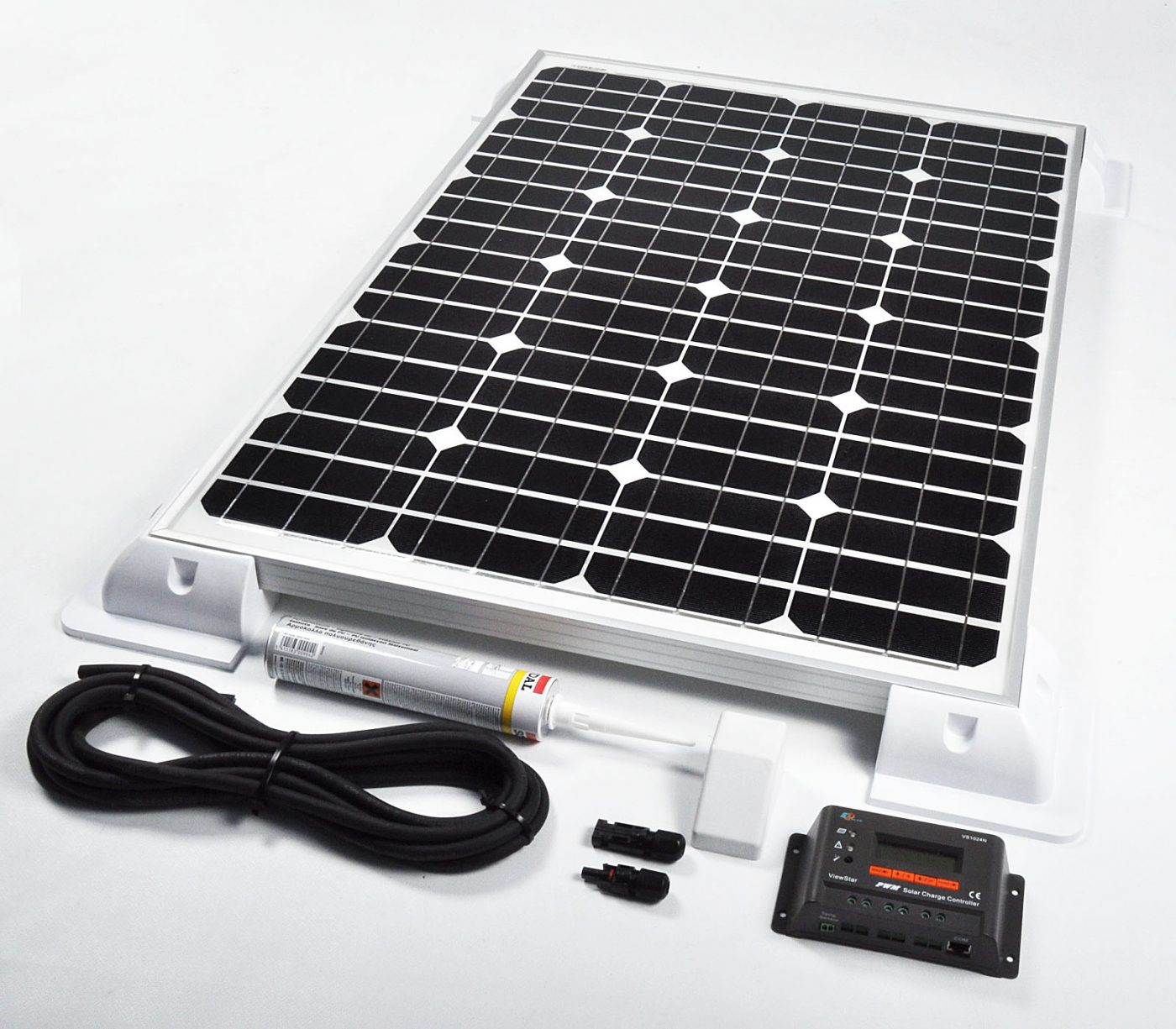 Sunstore 60w 12v Deluxe Solar Battery Charging Vehicle Kit Picture Of