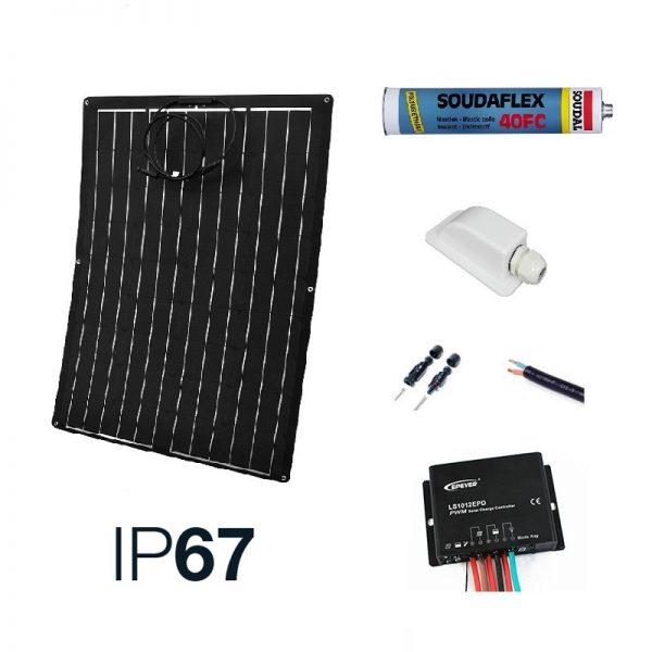 12v Solar Battery Charger Marine Kit