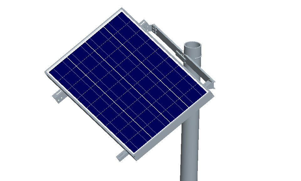 Large Panel Pole Mount For 30w 100w Solar Panels