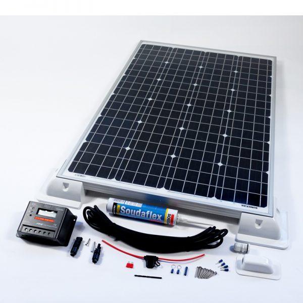 160w 12v Solar Panel Vehicle Kit Deluxe