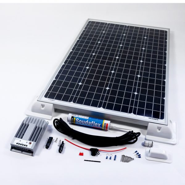 160w 12v MPPT Solar Battery Charger Vehicle Kit