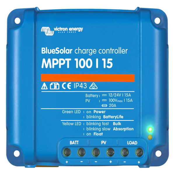 Victron BlueSolar charger MPPT 100-15 top