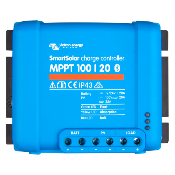 Victron SmartSolar charge controller MPPT 100-20 top