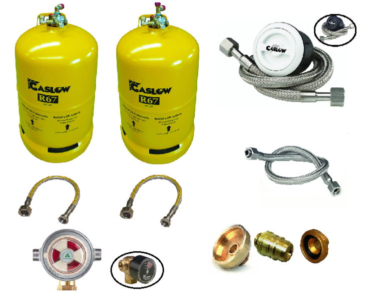 Gaslow Twin Automatic Cylinder Lpg Refillable Gas Tank Kit