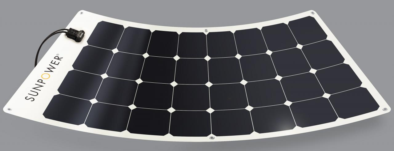 Sunpower 12v 100w Monocrystalline Semi Flexible Panel 1165x556