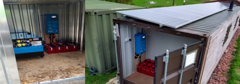 Off-grid solar power system eco home