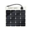 SUNPOWER 12v 50w Monocrystalline Semi Flexible Panel