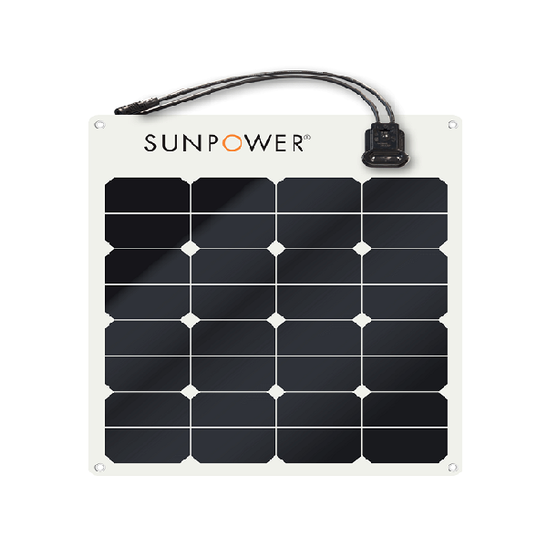 SUNPOWER 12v 50w Monocrystalline Semi Flexible Panel