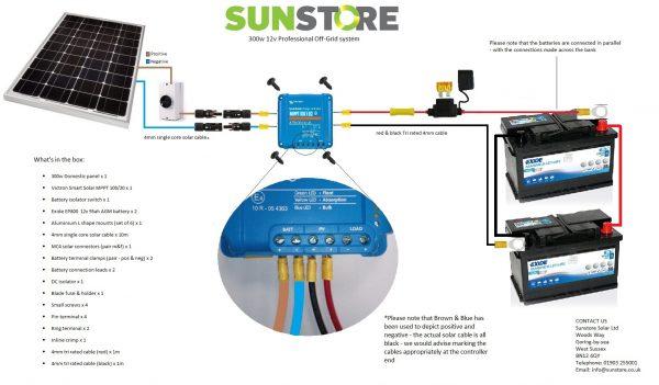 300w off grid wiring